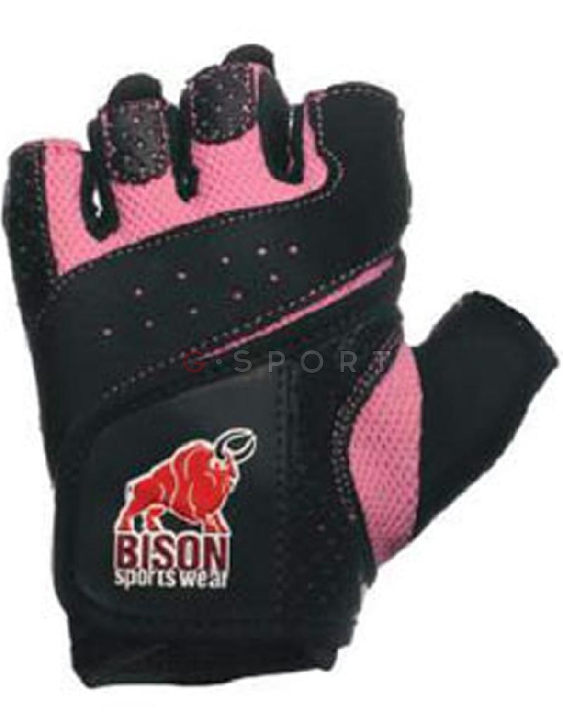 Bison | Pairs Ladies Glove Black Dotted Affrical Leather Palm 5011